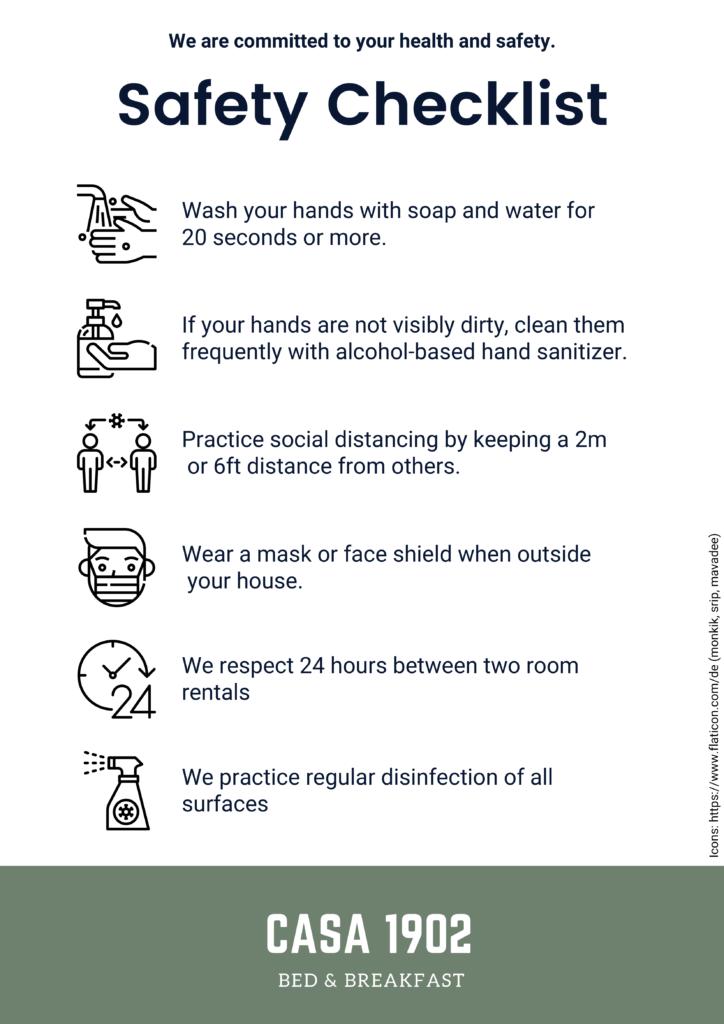 Hygiene Konzept in unserem Casa Particular