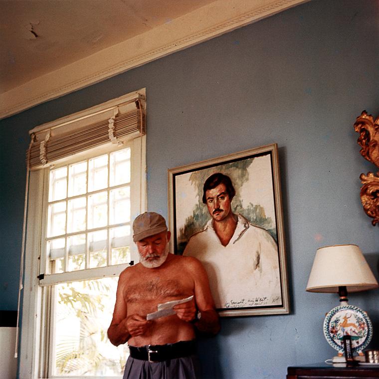 Ernest Hemingway 1953 im Haus der Finca Vigía