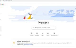 Reisebuchungen werden über google.com/travel kinderleicht