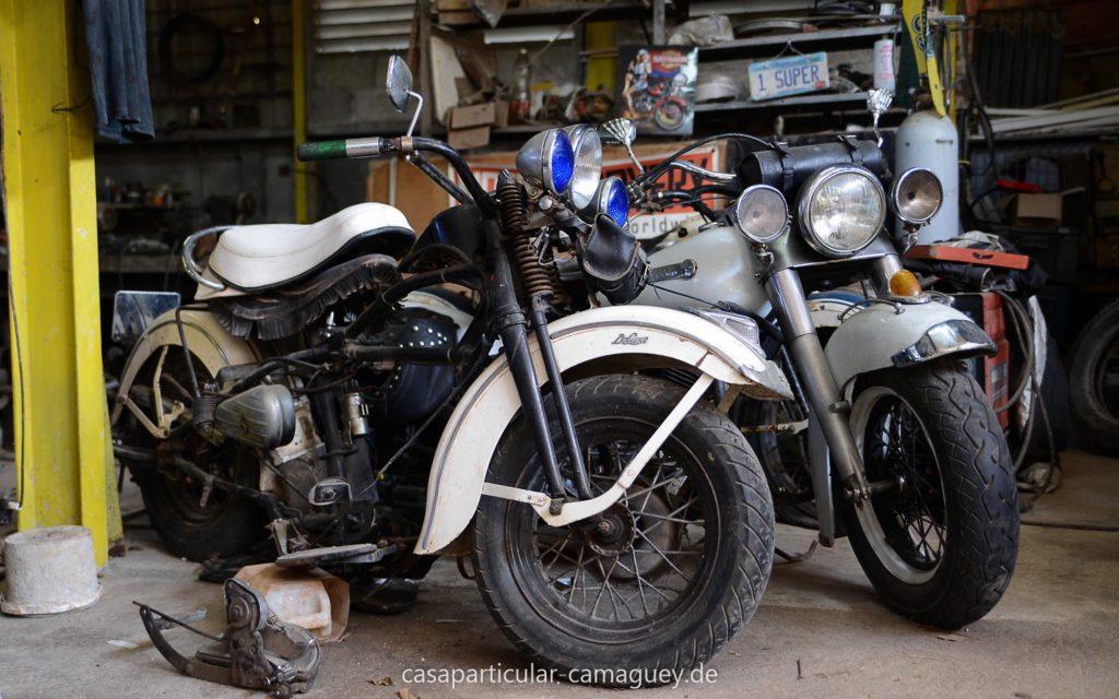 Die Harleys auf Kuba werden so gut es geht erhalten